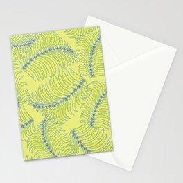 Tropical beach palm tree leaf Stationery Cards