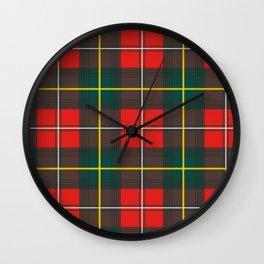 Minimalist Boyd Tartan Modern Wall Clock