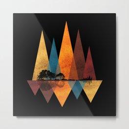 Nature Guitar - Triangles I Metal Print