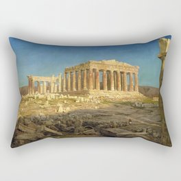 Frederic Edwin Church - The Parthenon - Digital Remastered Edition Rectangular Pillow