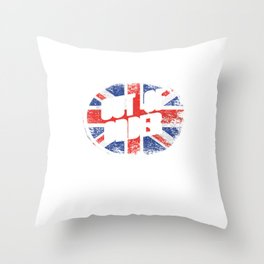 Funny British Great Britain Brexit Puns Brexiting European Union Anti EU Out Of Order Throw Pillow