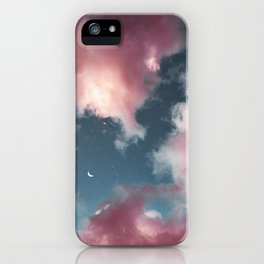 Cotton candy clouds. iPhone Case