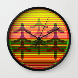 In The Pines Wall Clock