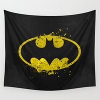 avenger Wall Tapestries featuring Bat man's Splash by Sitchko Igor