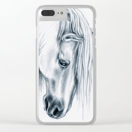 Andalusian Horse Portrait Clear iPhone Case
