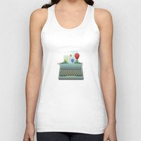 write Tank Tops featuring Write your story by Moremo