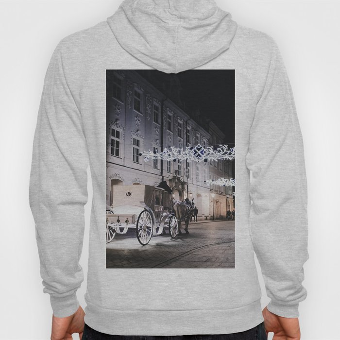 Winter Horse Carriage Ride (Color) Hoody