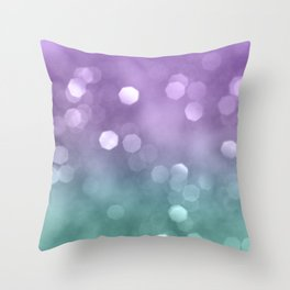Mermaid Colored Bokeh #1 #shiny #decor #art #society6 Throw Pillow