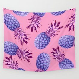 Violet pineapples Wall Tapestry