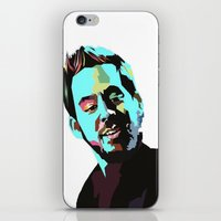mike wrobel iPhone & iPod Skins featuring Mike Shinoda by Lyre Aloise