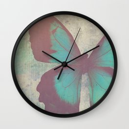 Painted Butterfly Wall Clock