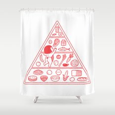 Food Pyramid Shower Curtain