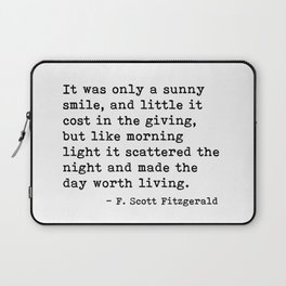 It was only a sunny smile - Fitzgerald quote Laptop Sleeve