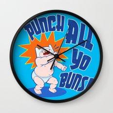 PUNCH ALL YO' BUNS! Wall Clock