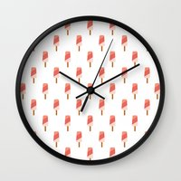 popsicle Wall Clocks featuring Popsicle by Hello Sleepywhale