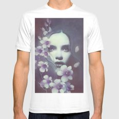 Lila X-LARGE White Mens Fitted Tee