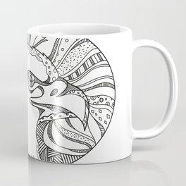 Bald Eagle Head Doodle Art Coffee Mug