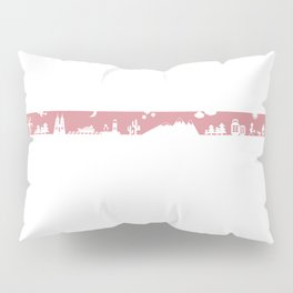 Find your angle_Travel_MonoPink Pillow Sham