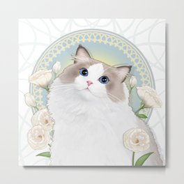 Cat Chabssal Metal Print