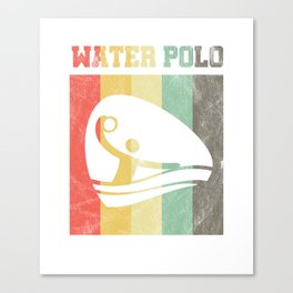 Waterpolo Vintage Retro Swimming Watersports Swimmers Surfing Surfers Gift Canvas Print