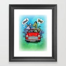 Mooo Yaar! Framed Art Print