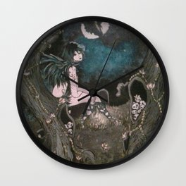 Blue Mourning Wall Clock