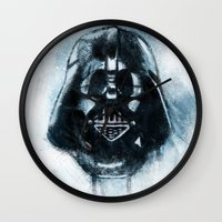 dark side Wall Clocks featuring Dark Side by ErDavid