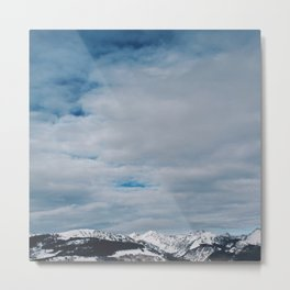Snowy Mountain Top Metal Print