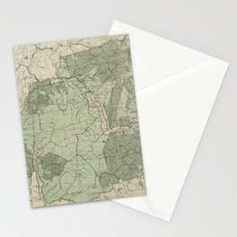 Vintage White Mountains New Hampshire Map (1915) Stationery Cards