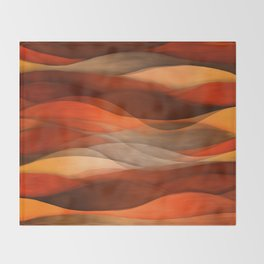 """Sea of sand and caramel waves"" Throw Blanket"