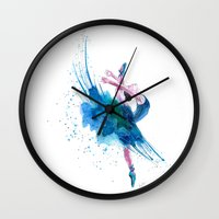 ballet Wall Clocks featuring Ballet by Zdenka Koskova