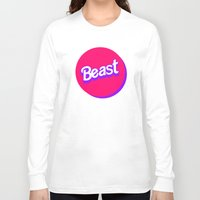 beast Long Sleeve T-shirts featuring Beast by Heretical