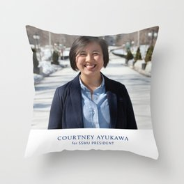 Vote for Courtney Throw Pillow