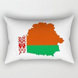 Belarus flag map Rectangular Pillow