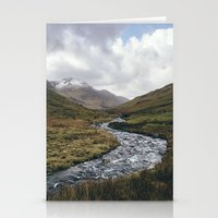 cassia beck Stationery Cards featuring Gatesgarth Beck flowing through the Honister Pass. Cumbria, UK. by liamgrantfoto