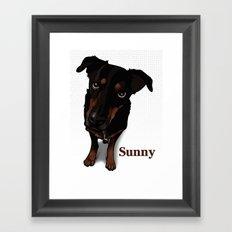 Sunny (white) Framed Art Print