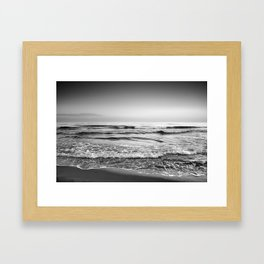 Soft waves. BN Framed Art Print