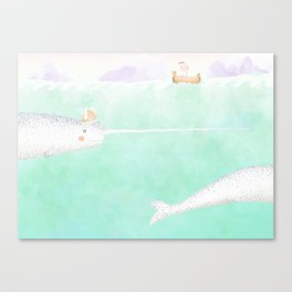 Norwegian Narwhal Canvas Print