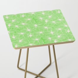 02 White Flowers on Green Side Table