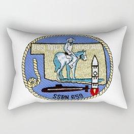 USS WILL ROGERS (SSBN-659) PATCH Rectangular Pillow