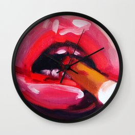bloody cigarette Wall Clock