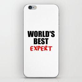 worlds best expert iPhone Skin