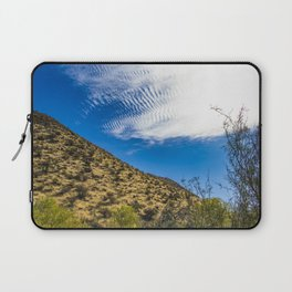 Clouds Stretching Across a Deep Blue Sky in the Anza Borrego Desert, California, USA Laptop Sleeve
