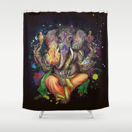 Colorful Ganesh Shower Curtain