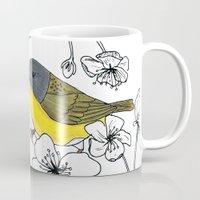 nashville Mugs featuring Nashville Warbler by Art by Peleegirl
