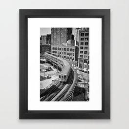 Brown Line Framed Art Print