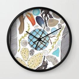Coastal Treasures Wall Clock