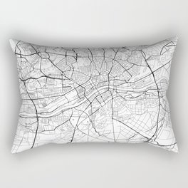 Frankfurt Map White Rectangular Pillow