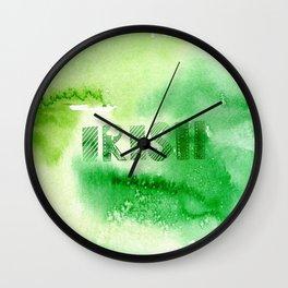 Green Irish Wall Clock