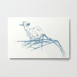 Goat in Tree Metal Print